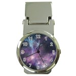 Blue Galaxy  Money Clip Watches Front