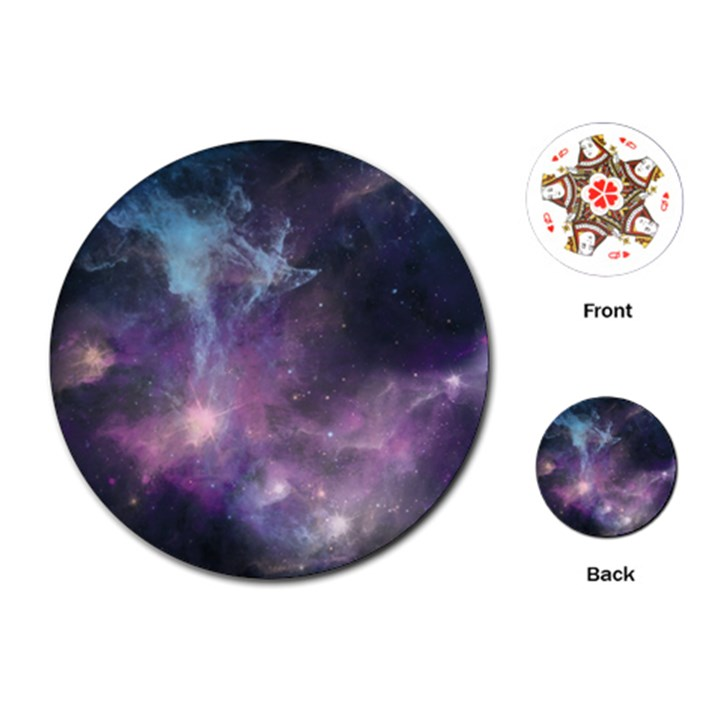 Blue Galaxy  Playing Cards (Round)