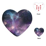Blue Galaxy  Playing Cards (Heart)  Front