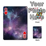 Blue Galaxy  Playing Cards 54 Designs  Front - HeartQ