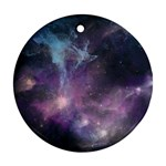 Blue Galaxy  Round Ornament (Two Sides)  Front