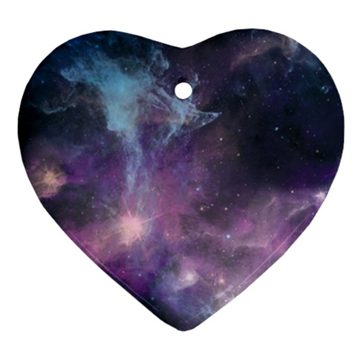 Blue Galaxy  Heart Ornament (2 Sides)