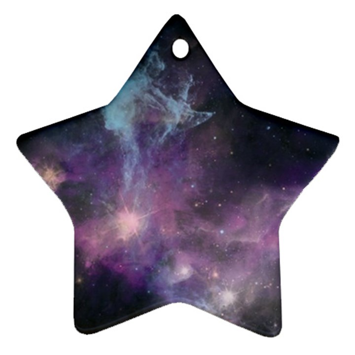 Blue Galaxy  Star Ornament (Two Sides)