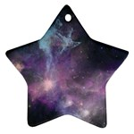Blue Galaxy  Star Ornament (Two Sides)  Back
