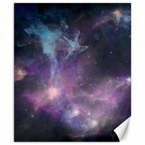 Blue Galaxy  Canvas 8  x 10