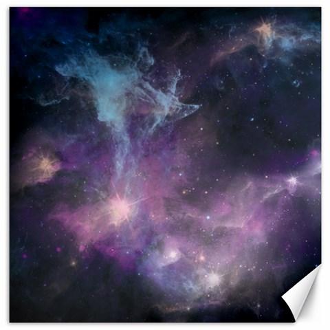 Blue Galaxy  Canvas 16  x 16
