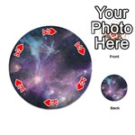 Blue Galaxy  Playing Cards 54 (Round)  Front - HeartK