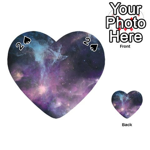 Blue Galaxy  Playing Cards 54 (Heart)