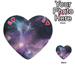 Blue Galaxy  Playing Cards 54 (Heart)  Front - Heart6