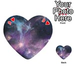Blue Galaxy  Playing Cards 54 (Heart)  Front - Heart9