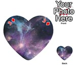 Blue Galaxy  Playing Cards 54 (Heart)  Front - Diamond3