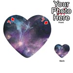 Blue Galaxy  Playing Cards 54 (Heart)  Front - Diamond7