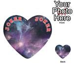 Blue Galaxy  Playing Cards 54 (Heart)  Front - Joker2