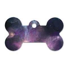 Blue Galaxy  Dog Tag Bone (two Sides)