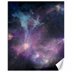 Blue Galaxy  Canvas 11  x 14