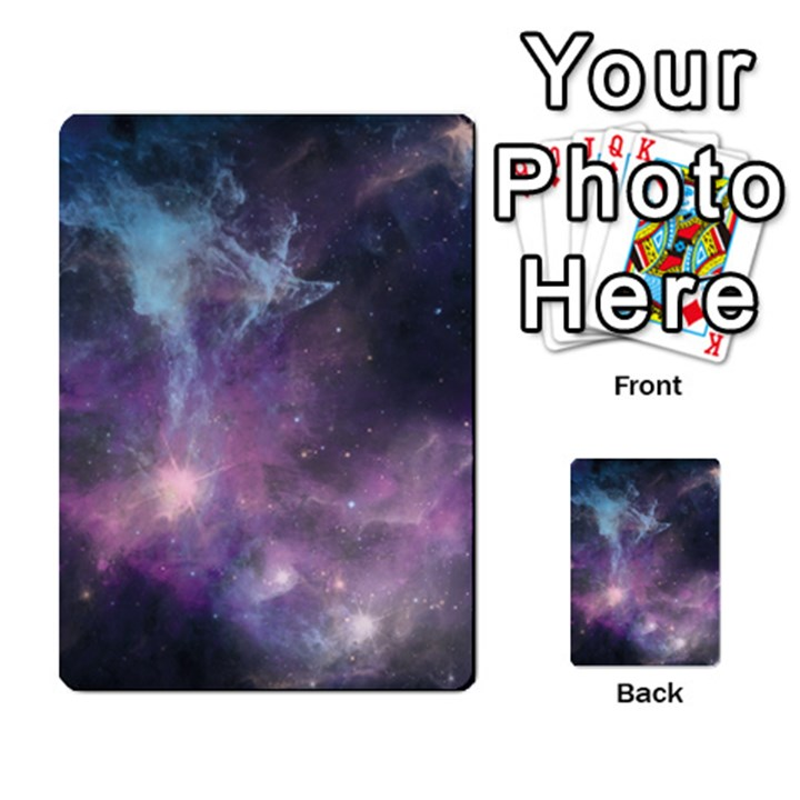 Blue Galaxy  Multi-purpose Cards (Rectangle)