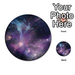 Blue Galaxy  Multi-purpose Cards (Round)  Back 18