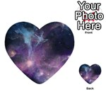 Blue Galaxy  Multi-purpose Cards (Heart)  Front 34