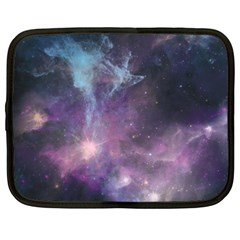 Blue Galaxy  Netbook Case (Large)
