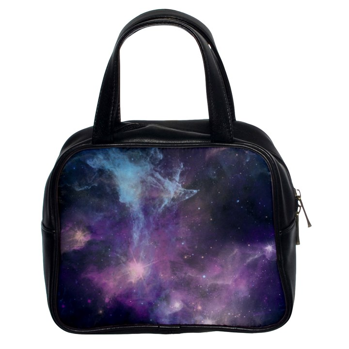Blue Galaxy  Classic Handbags (2 Sides)