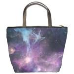 Blue Galaxy  Bucket Bags Back