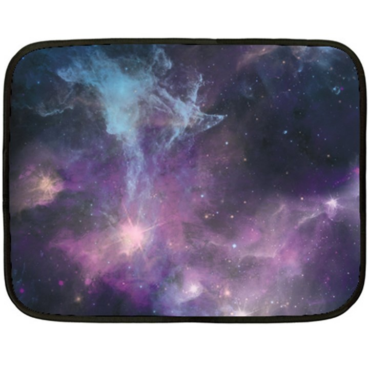 Blue Galaxy  Fleece Blanket (Mini)