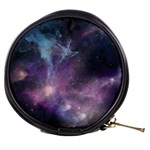 Blue Galaxy  Mini Makeup Bags Front