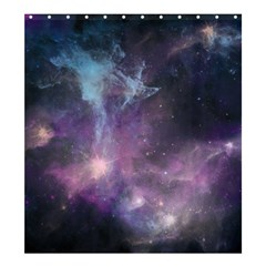 Blue Galaxy  Shower Curtain 66  x 72  (Large)
