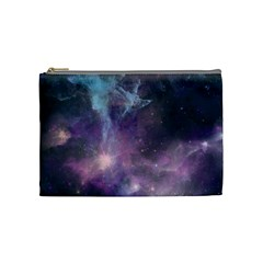 Blue Galaxy  Cosmetic Bag (Medium)