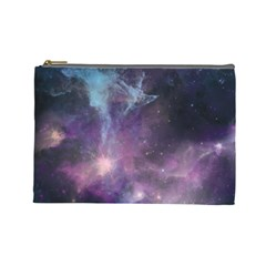 Blue Galaxy  Cosmetic Bag (Large)