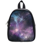 Blue Galaxy  School Bags (Small)  Front