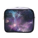Blue Galaxy  Mini Toiletries Bags Front
