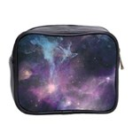 Blue Galaxy  Mini Toiletries Bag 2-Side Back