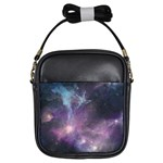 Blue Galaxy  Girls Sling Bags Front