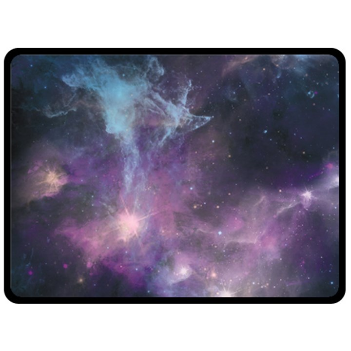 Blue Galaxy  Fleece Blanket (Large)
