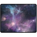 Blue Galaxy  Fleece Blanket (Medium)  60 x50 Blanket Front