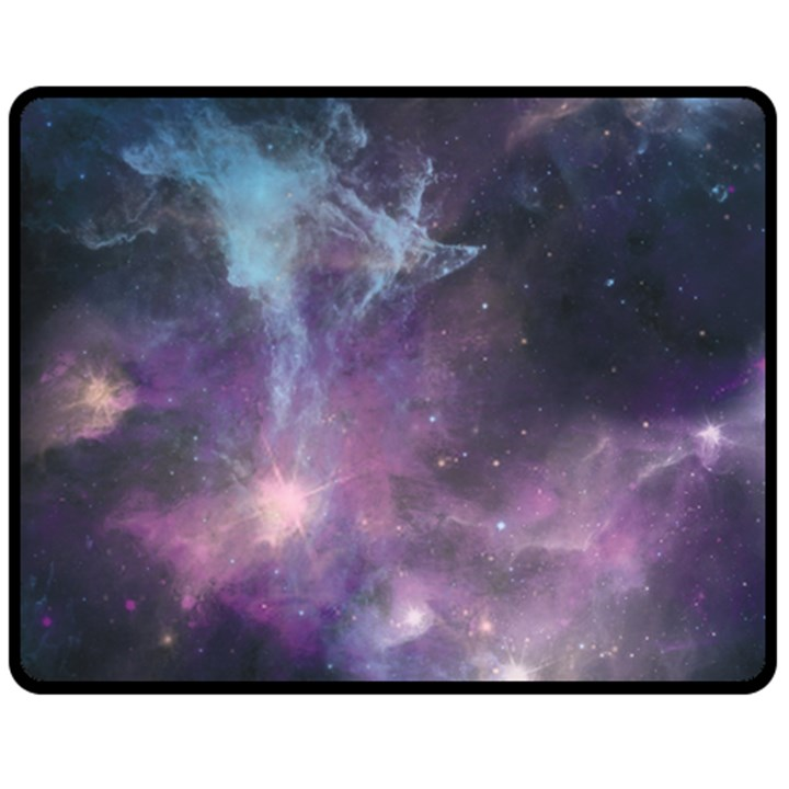 Blue Galaxy  Fleece Blanket (Medium)