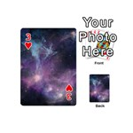 Blue Galaxy  Playing Cards 54 (Mini)  Front - Heart3