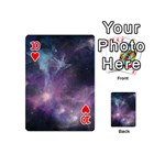 Blue Galaxy  Playing Cards 54 (Mini)  Front - Heart10