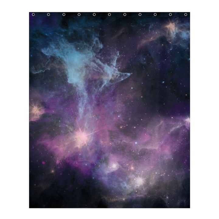 Blue Galaxy  Shower Curtain 60  x 72  (Medium)