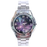 Blue Galaxy  Stainless Steel Analogue Watch Front