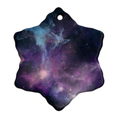 Blue Galaxy  Snowflake Ornament (2 Side)