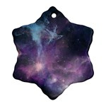 Blue Galaxy  Snowflake Ornament (2-Side) Front