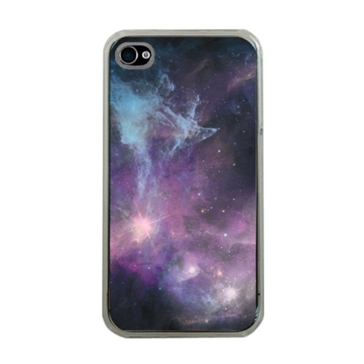 Blue Galaxy  Apple iPhone 4 Case (Clear)