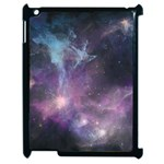 Blue Galaxy  Apple iPad 2 Case (Black) Front