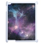 Blue Galaxy  Apple iPad 2 Case (White) Front