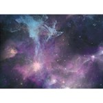 Blue Galaxy  Apple 3D Greeting Card (7x5) Back