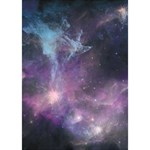 Blue Galaxy  Get Well 3D Greeting Card (7x5) Inside