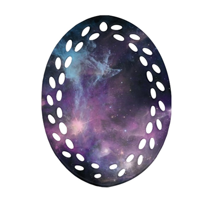 Blue Galaxy  Ornament (Oval Filigree)