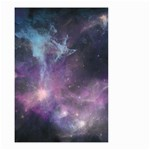 Blue Galaxy  Small Garden Flag (Two Sides) Back